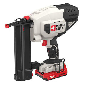 Porter cable 20v Max Li ion 18g Brad Nailer Kit Pcc790lar Reconditioned