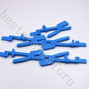 5 Pcs X ray Film Radiograph Holder Clip Supply For Dental Plastic Snap Clamp