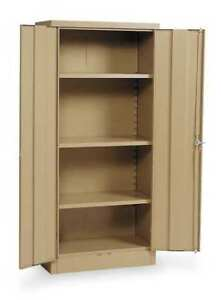 Storage Cabinet tan 66 In H 30 In W Edsal 1ufd4