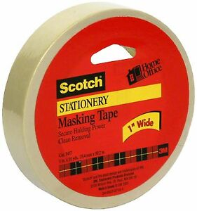 Scotch Stationery Masking Tape 1in X 55yd 1 Ea pack Of 9