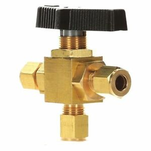 1 4 Compr Brass Mini Ball Valve 3 way Zoro Select G pmyt 25