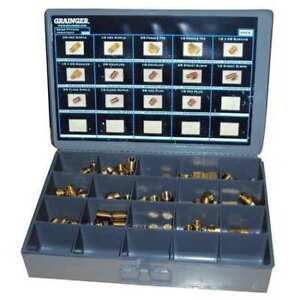 70 Piece Assorted Npt Brass Pipe Fitting Kit 223988