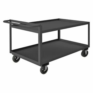 Utility Cart steel 41 Lx24 W 2000 Lb Durham Mfg Rscr243636alu6mr95