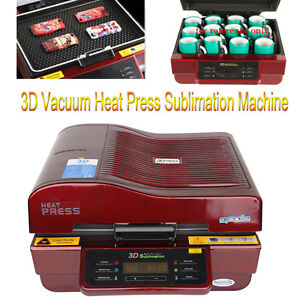 3d Heat Press Transfer Vacuum Sublimation Machine For Mug Cup Plate Phone Case