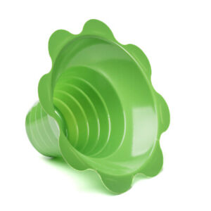 Small Shaved Ice Sno Cone Flower Cups 4 Oz 250 Count Green