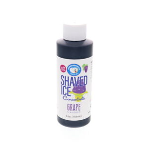 Grape Hawaiian Shaved Ice And Snow Cone Unsweetened Flavor Concentrate 4 Fl Oz