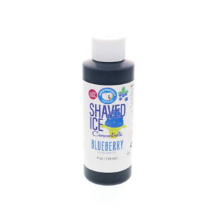 Blueberry Hawaiian Shaved Ice And Snow Cone Unsweetened Flavor Concentrate 4 Fl