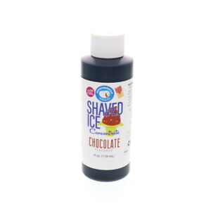 Chocolate Snow Cone And Shaved Ice Unsweetened Flavor Concentrate 4 Fl Oz