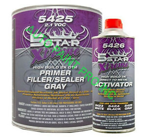 Dtm Hi Build 2k Primer Sealer 5 Star 5425 Auto Body Shop Restoration Car Paint