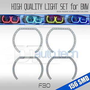 Multi color Rgb Angel Eye Halo Ring Kit For Bmw F30 3 Series Halogen