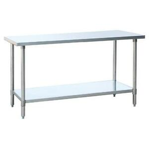 Atosa Mrtw 3096 96 X 30 inch All Stainless Steel Work Table With Undershelf N