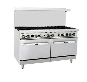 Atosa Cookrite Ato 10b 60 inch 10 Burners Heavy Duty Gas Range With Double Oven