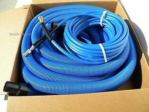 Carpet Cleaning 50ft Vacuum Solution Hoses 1 1 2 Wand Cuff Connect