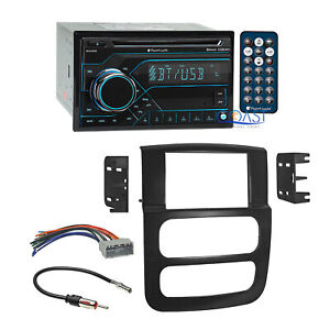 Planet Audio Car Cd Bluetooth Radio Dash Kit Harness For 02 05 Dodge Ram Truck