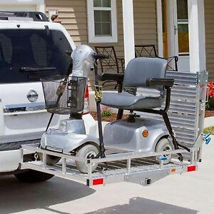 Trailer Hitch Cargo Carrier Car Truck Suv Mount With Ramp Aluminum Receiver Tow