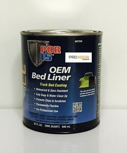 Por 15 49704 Oem Black Bed Liner Truck Bed Coating Quart Por 15 49704