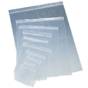Clear Plastic Ziplock Reclosable Poly Seal Top Bags Coins jewelry Small large