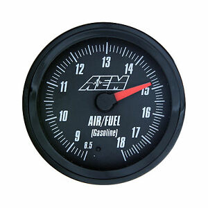 Aem 30 5130 Wideband Air fuel Gauge 8 5 To 18 1afr With Analog Face