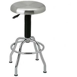 Adjustable Height Bar Stool Swivel Metal Pneumatic Work Shop Garage Commercial