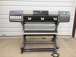 Hp Designjet 5000 42 Wide Color Plotter Inkjet Lf Jetdirect Card 10 100 C6090z