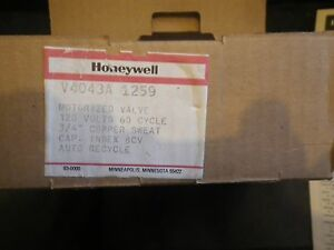 New Honeywell V4043a 1259 Electric Zone Valve Brand New old Stock