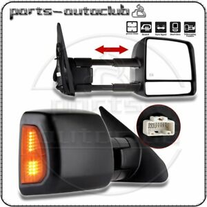 Pair 2 For 2007 2017 Toyota Tundra sequoia Power Heated Led Signal Tow Mirrors