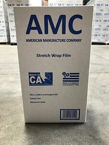 Made In Usa 18 x1500 80 Gauge Cast Hand Pallet Stretch Shrink Wrap Film 4 Rolls