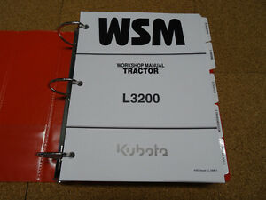 Kubota L3200 Tractor Service Workshop Shop Repair Manual