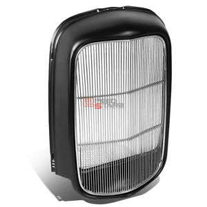 Painted Radiator Grille Shell Polished Steel Grill Insert For 1932 Model B Bb 18
