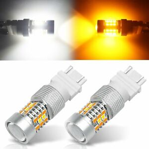 Jdm Astar 21 Smd 3157 4157na Led Switchback White Yellow Turn Signal Light Bulbs
