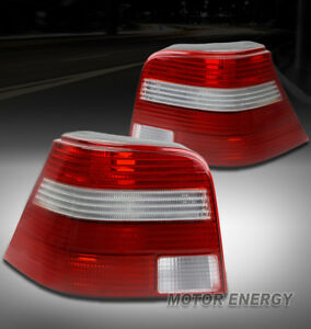 99 05 Vw Golf Iv Mk4 Gti R32 Euro Altezza Tail Brake Lights Rear Lamps Red Clear