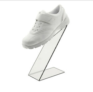 Slant Back Acrylic Shoe Riser Display Stand Retail 3 w X 10 h X 6 d