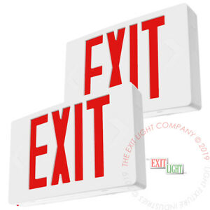 2pack Red Led Emergency Exit Light Sign Battery Backup Ul924 Fire Ledrbb