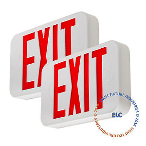 2pack Red Led Emergency Exit Light Sign Modern Battery Backup Ul924 Ledrbbjr