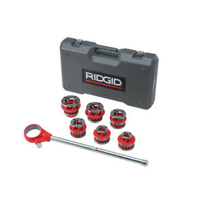 Ridgid 12 r 1 2 2 Capacity Npt Exposed Ratchet Threader Set 36475 New