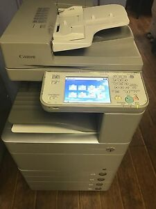 Canon Ir Advance C5235 Copy Print Color Scan 4 Tray Low Color Meter