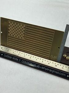 Large U s Flag With True Stars template For New Hermes Engraver Solid Brass