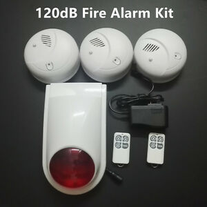 Wireless Diy Fire Alarm System Smoke Detection For House Office Shop Depot Barn