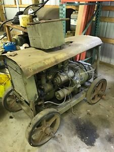 Antique Military Generator 4 Cylinder Flathead Gas Engine Original Cart As Is