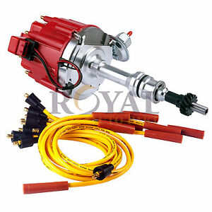 Ignition Distributor For Ford 351c 351m 400 429 460 Spark Plug Wire Combo