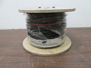 2c 16awg Ft6 1000 Spool Cable Solid Copper Wire 1000 Ft Black Made In Usa