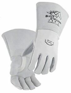 Black Stallion 750 Premium Grain Elkskin Stick Welding Gloves Large
