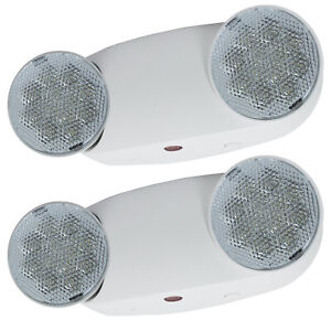 2pack All Led Emergency Exit Light High Output Bug Eye Ul Fire Safety Elmw2