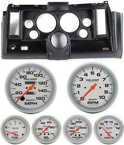 69 Camaro Black Dash Carrier W Auto Meter Ultra Lite Mechanical 5 Gauges