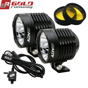 Universal Led Light Kit Motorcycle Headlight Fog Lights Lamp Auxiliary Light