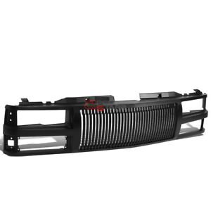 For 94 00 Chevy C10 Tahoe Blazer Black Abs Bumper Hood Upper Grill Guard Frame