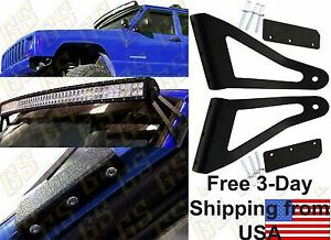 Gs Power Jeep 50 Curved Led Light Bar Mount Bracket For 1984 2001 Cherokee Xj