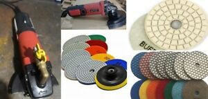 Wet Polisher Granite Marble Concrete Glass Polishing Pad 9 1 Counter Top Edge
