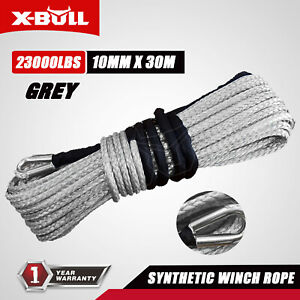 X Bull 2 5 X100ft Synthetic Winch Rope Line Recovery Cable Grey 4wd 23000lbs