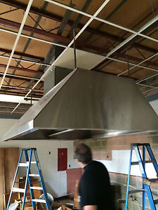 72 X 84 X 27 Stainless Steel Island Hood With Filters